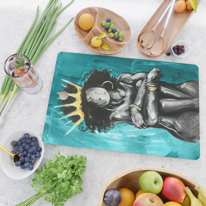 Naturally Queen IX TEAL Cutting Board
