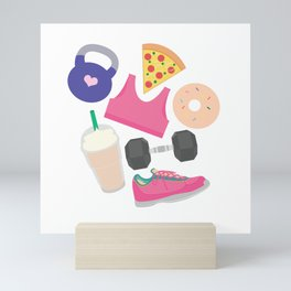 I'm Not Perfect, Fitness Pattern Mini Art Print