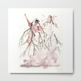 She is Strong in his Hands Metal Print