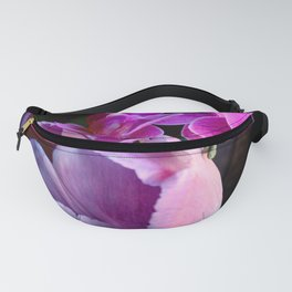 Purple Tulip With Baby Moths Fanny Pack