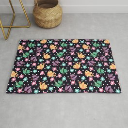 Freely Birds Flying - Fly Away Version 3 - Night Purple Color Rug