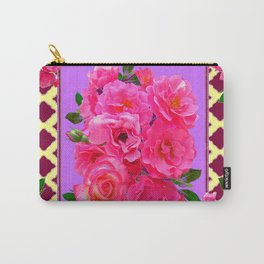 PANTENE ULTRA VIOLET PURPLE  PINK GARDEN ROSES Carry-All Pouch