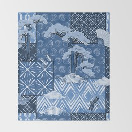 Shibori Quilt Throw Blanket