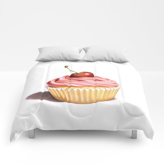 The Perfect Pink Cupcake Comforters