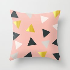 Gold triangles multi Throw Pillow