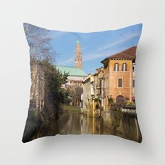 Bridge with a view Throw Pillow