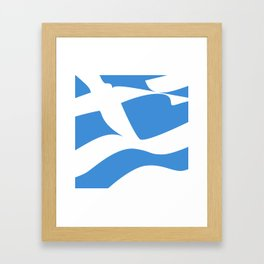 Greek Flag the Wisdom of God, Freedom and Country Framed Art Print