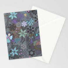 Colorful grey xmas pattern Stationery Cards
