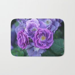 Roses on the city flowerbed. Bath Mat