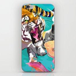 Hunting tiger iPhone Skin