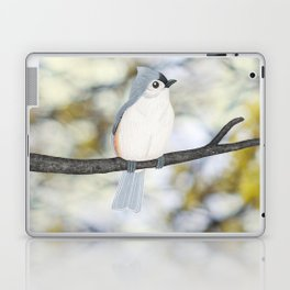 tufted titmouse - bokeh Laptop & iPad Skin