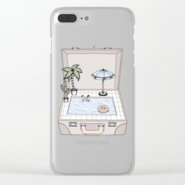 Pool To Go Clear iPhone Case
