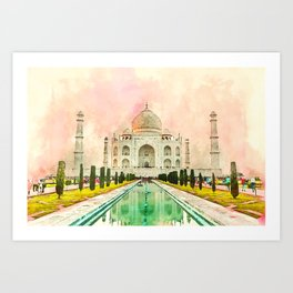 Beauty of Tajmahal Art Print