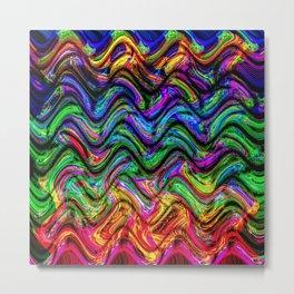 Psychedelic Waves Metal Print