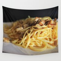 pasta Wall Tapestries featuring Pasta by alemazza