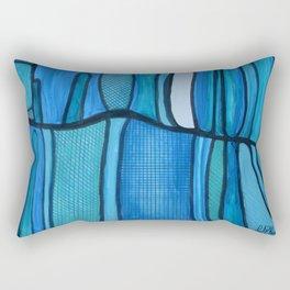 2 Blue Rectangular Pillow