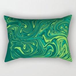 Toxic green mable Rectangular Pillow