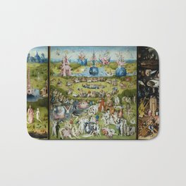 The Garden of Earthly Delights by Hieronymus Bosch (1490-1510) Bath Mat
