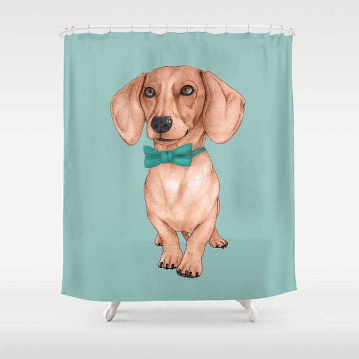 Dachshund The Wiener Dog Shower Curtain