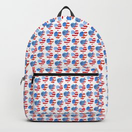 Heart USA. 4th of July. Backpack
