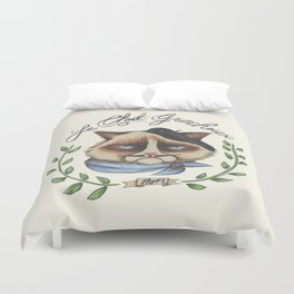 Monsieur Grumpy Duvet Cover