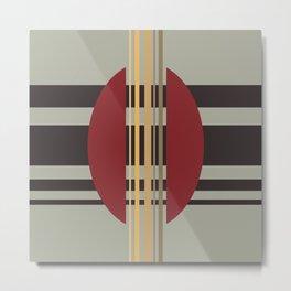 Midcentury Abstract Stripes 'Loom' Metal Print