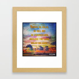 Encouragement -  Lord upholds him with his hand Framed Art Print