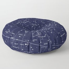 Constellation Map Indigo Floor Pillow