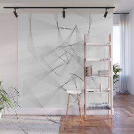 Abstract White Wall Mural