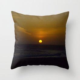 Sunset across the Ocean Throw Pillow