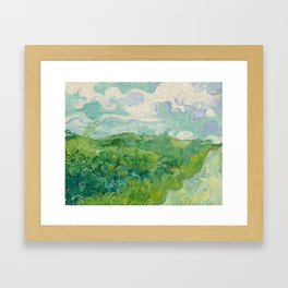 Green Wheat Fields, Auvers, 1890, Vincent van Gogh Framed Art Print