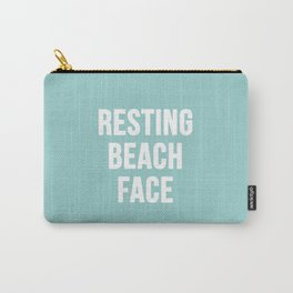 Resting Beach Face Carry-All Pouch