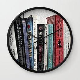 Book shelf love- we are what we read Wall Clock