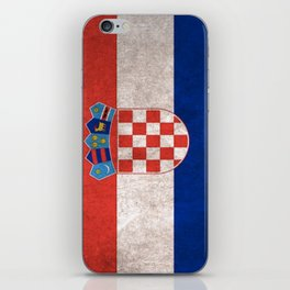 Croatia Flag (Vintage / Distressed) iPhone Skin