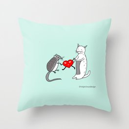 Your heart is mine Throw Pillow