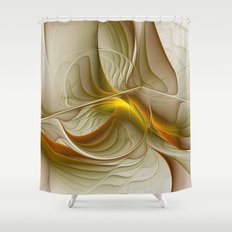 Abstract With Colors Of Precious Metals, Fractal Art Shower Curtain