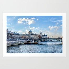 Tribunal de Commerce on the Ile de la Cite - Paris, France Art Print