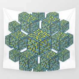 Cubed Mazes Wall Tapestry