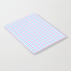 Gingham purple and teal Notebook