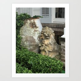 The Lion, the Urn and the Boxwood Art Print