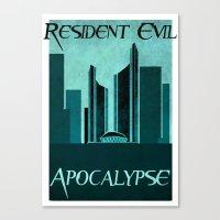resident evil Canvas Prints featuring Resident Evil Apocalypse by JackEmmett