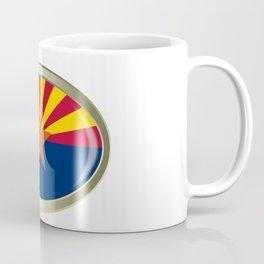 Arizona State Flag Oval Button Coffee Mug
