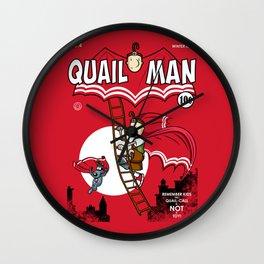 The Dark Quail Wall Clock