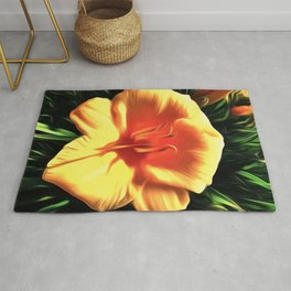 Painted Day Lilly Rug