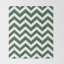 Hunter green - green color - Zigzag Chevron Pattern Throw Blanket