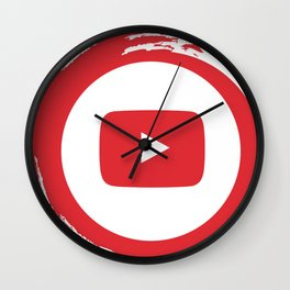 youtube youtuber - broadcast best design you tube for YouTube lover Wall Clock