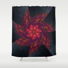 Mandala Like a Wind Shower Curtain