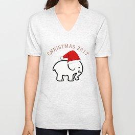 White Elephant Christmas 2017 Unisex V-Neck