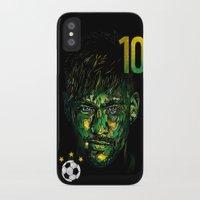 neymar iPhone & iPod Cases featuring NEYMAR JR by dan elijah g. fajardo