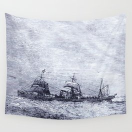 Mastery of Nature by Man Wall Tapestry
